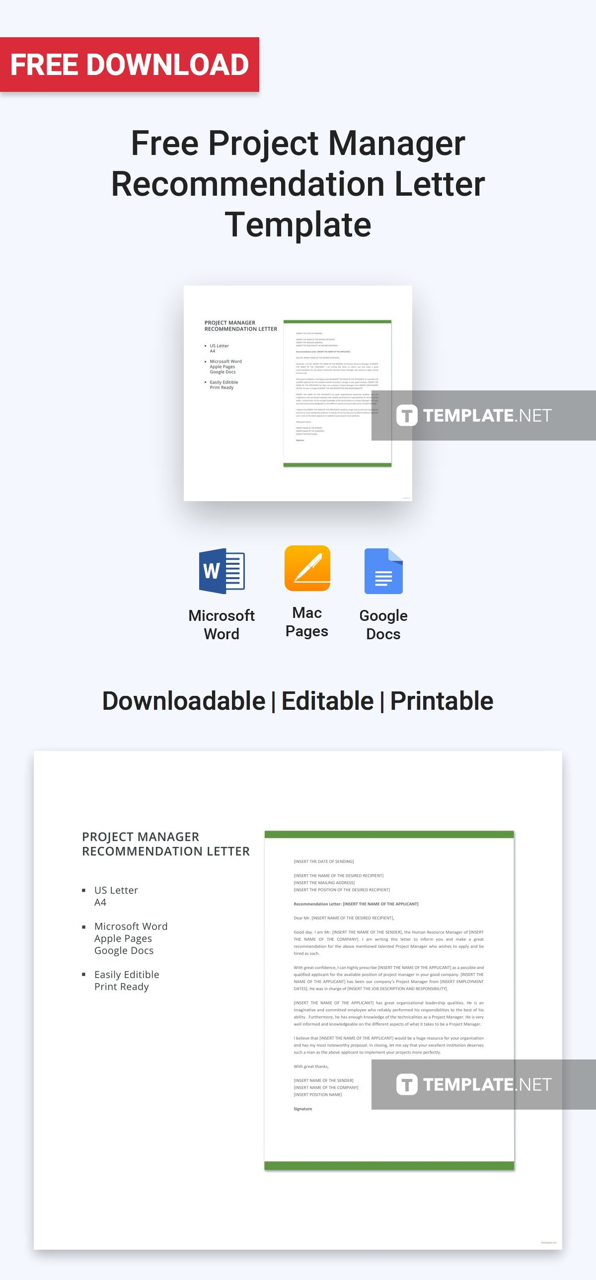 Free project manager recommendation letter pinterest letter free project manager recommendation letter pinterest letter templates and template spiritdancerdesigns Image collections