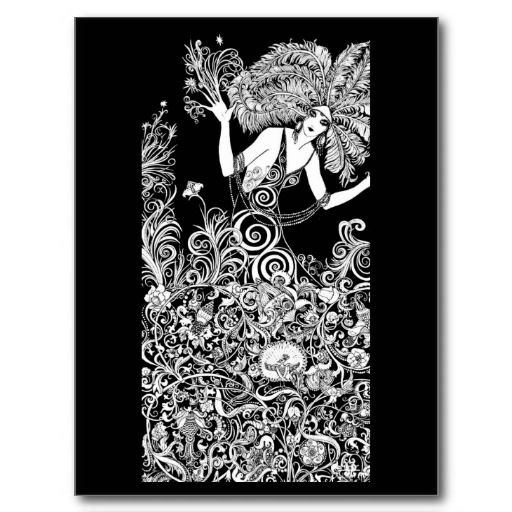 Postcard-Vintage Illustration-Aubrey Beardsley 33