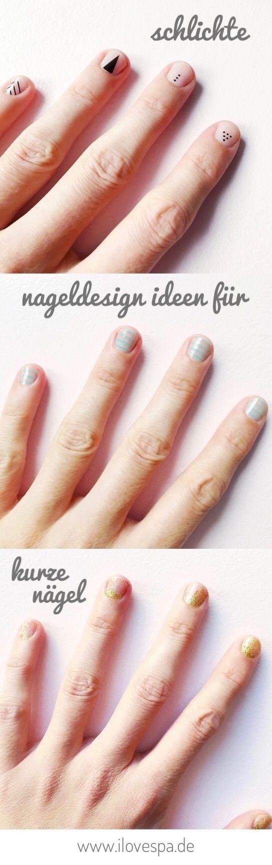 Schlichte Nageldesign Ideen zum Selbermachen - DIY Minimal Manicure ...