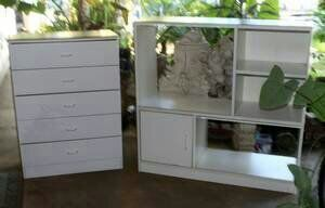 1970s Dresser Draw Matching Storage White Shabby DIY. In West Covina, CA  (sells