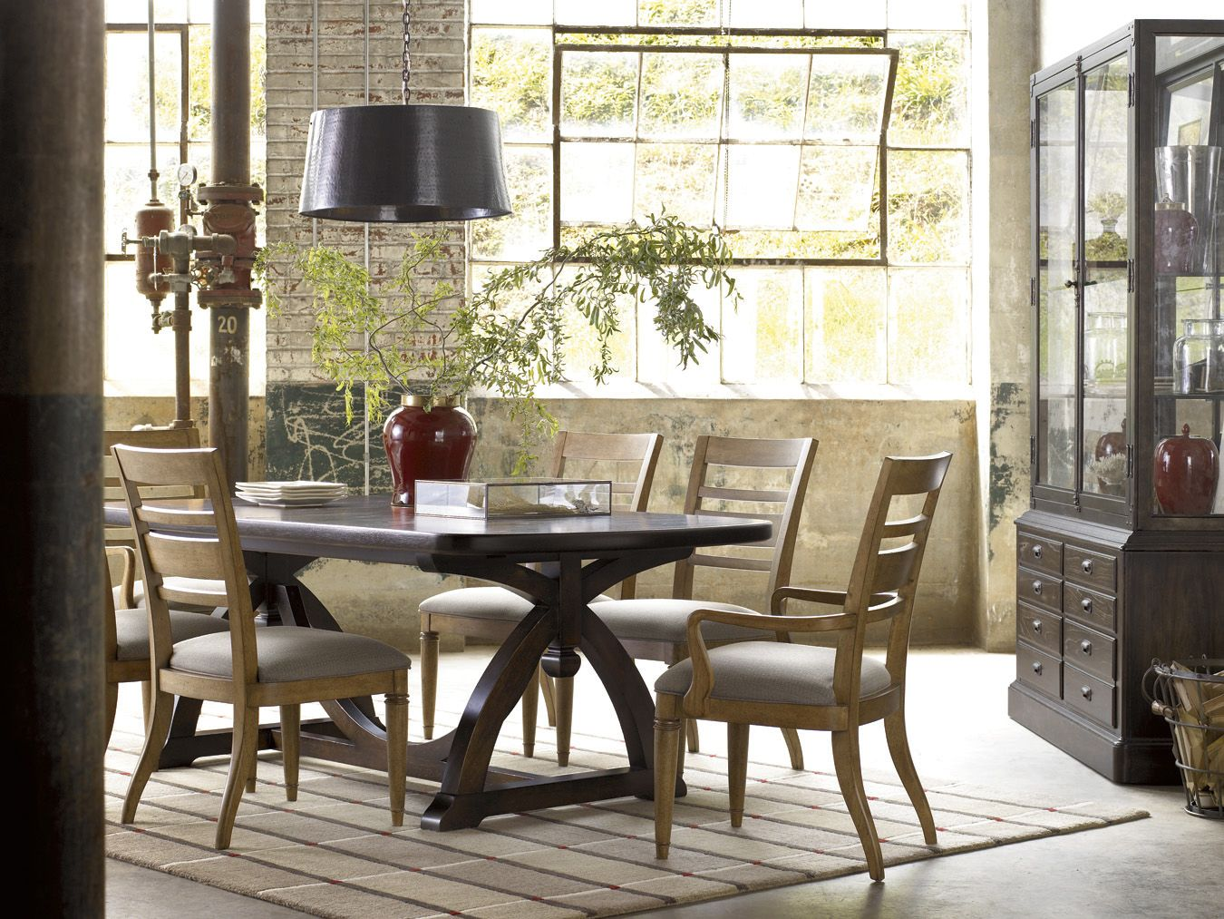 Reinventions pacific trestle dining table by thomasville in new loft finish