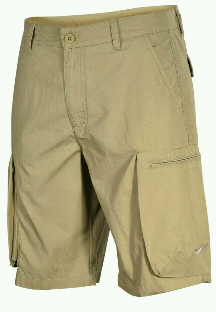 7796d08794 Nike Men's Woven Khaki Cargo Casual Shorts 613644-235 Sizes 32 34 36 NWT  #Nike #BaseLayers
