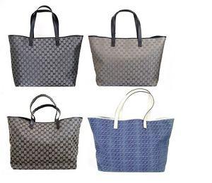 New Authentic GUCCI GG Canvas/Denim Tote Bag Handbag
