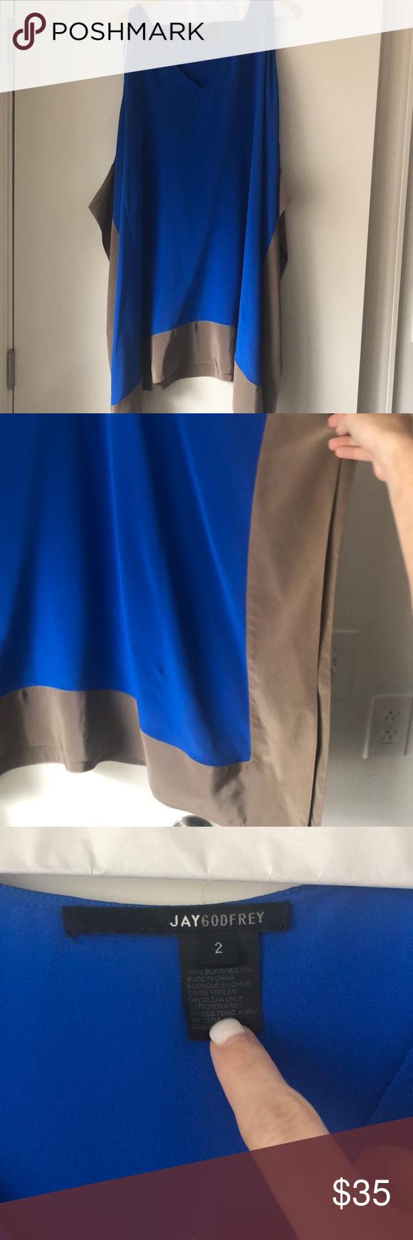 JAY GODFREY colorblock swing dress size 2