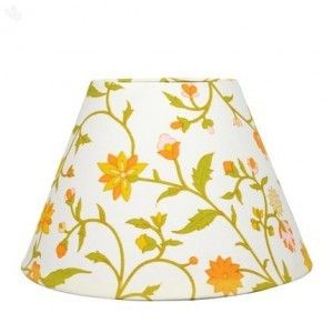 Lamp shade floral jaal printed - orange online shopping India ...