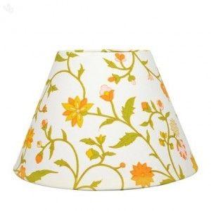 Marvelous Lamp Shade Floral Jaal Printed   Orange