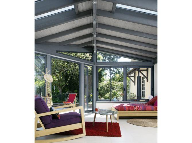 veranda style industriel une verrire dans la cuisine pour un style industriel industriel style. Black Bedroom Furniture Sets. Home Design Ideas