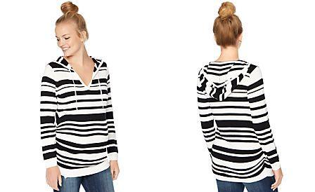 8d4a5deb2e3cc Motherhood Maternity Hooded Striped Sweater | Babies | Maternity ...