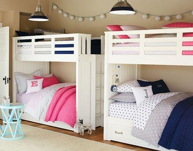 kinderzimmer einrichtungsideen-moderne etagenbetten-weiß - das moderne kinderzimmer