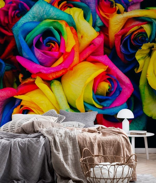 Flower Colors Wall Mural Wallpaper Flowers