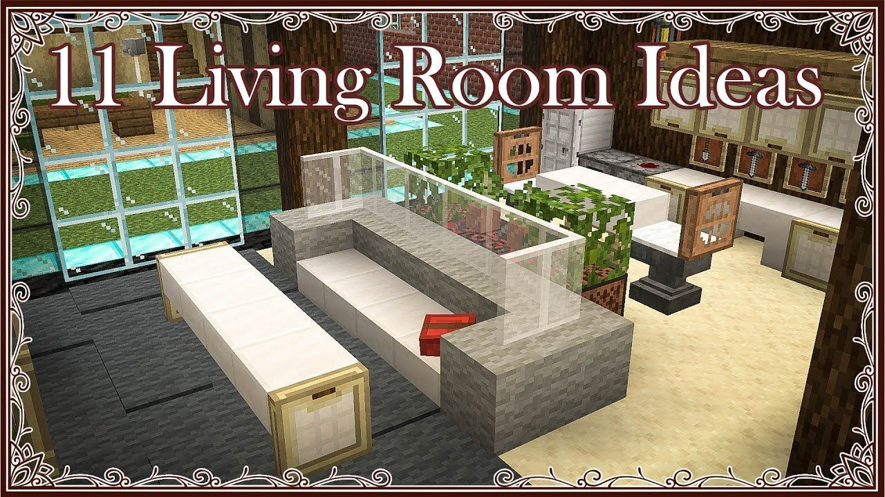 Minecraft 11 Living Room Ideas Trailer Interior Design