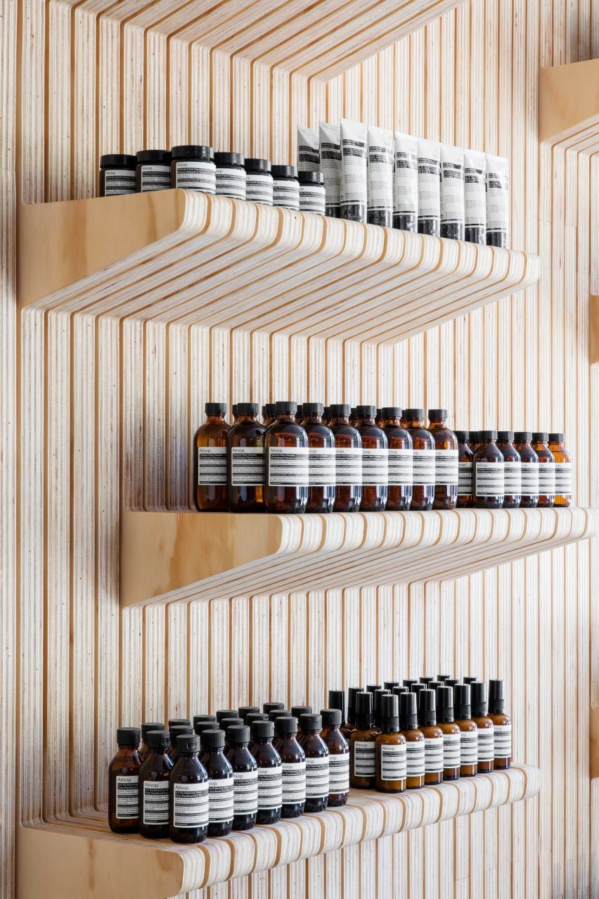 new york studio tacklebox architecture designed the shop on columbus avenue with aesop after the owners