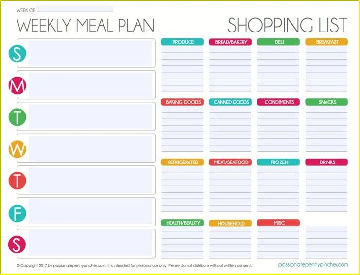 Pin On Meal Plans
