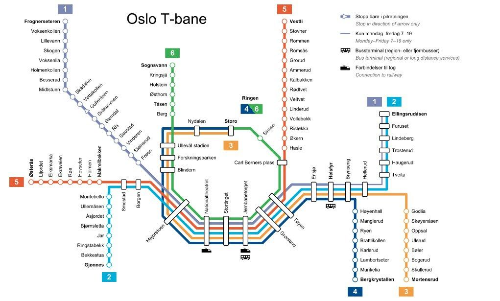 Image result for oslo metro map