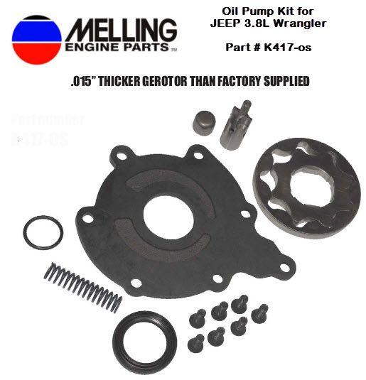 New Oil Pump Kit For Jeep 3 8 Wrangler Part K417 Os 015