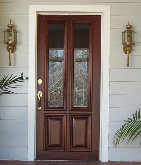 Mobile Home Cottage Door: Custom Craftsman Four Panel Door With Glass Entry