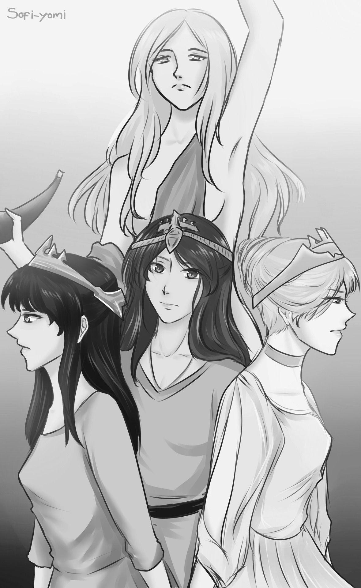 Sofi Yomi Ymir And Her Three Daughters Attack On Titan Levi Attack On Titan Titans
