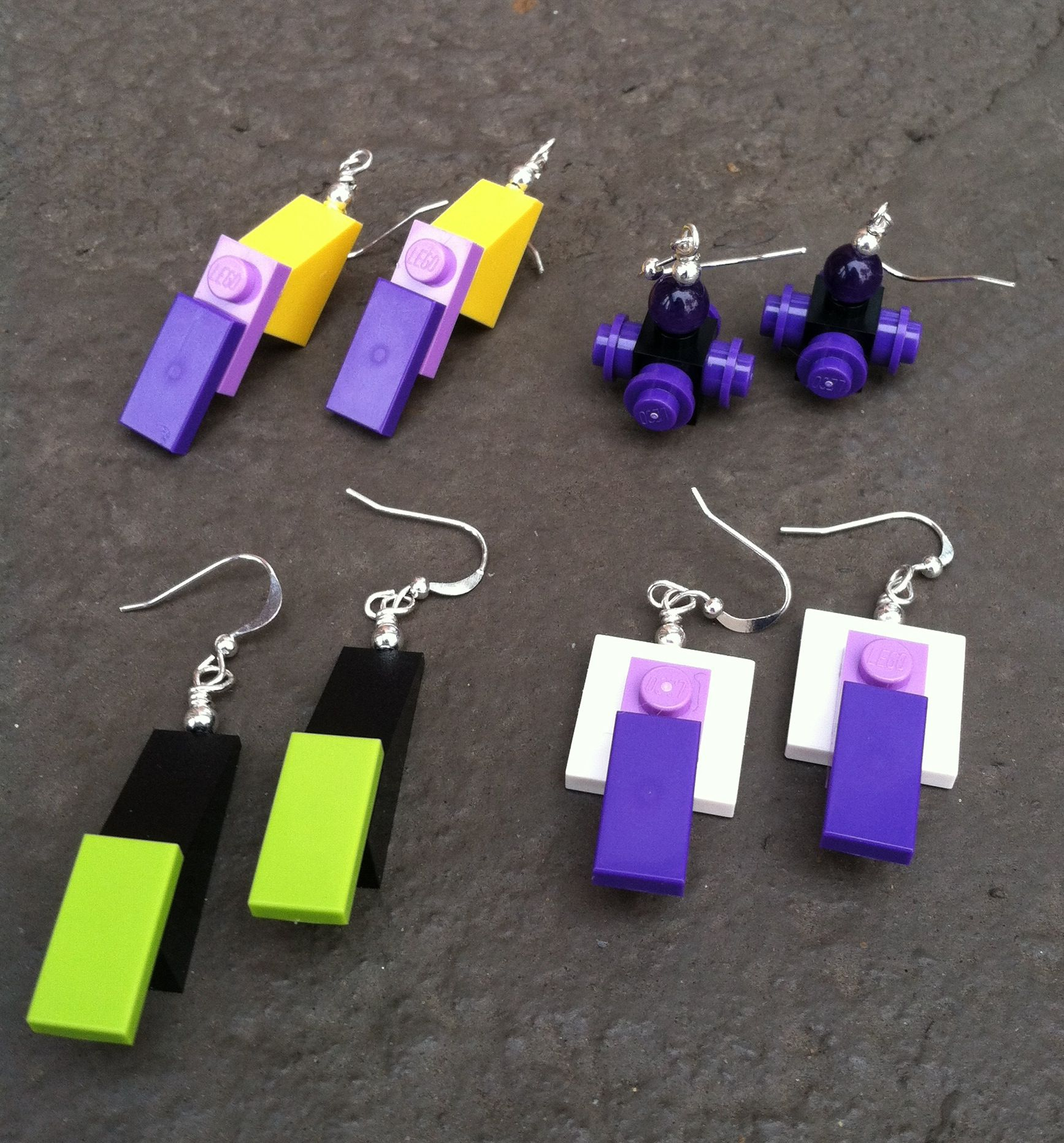 Lego Earrings #handmade #diy #lego #earrings #accessories