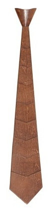 Natural Wooden Finished Neck Ties Handmade Novelty Wood Ties Ideal Presents