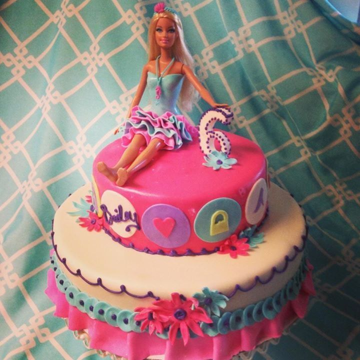 Another cute barbie doll cake I think I like this one better tho