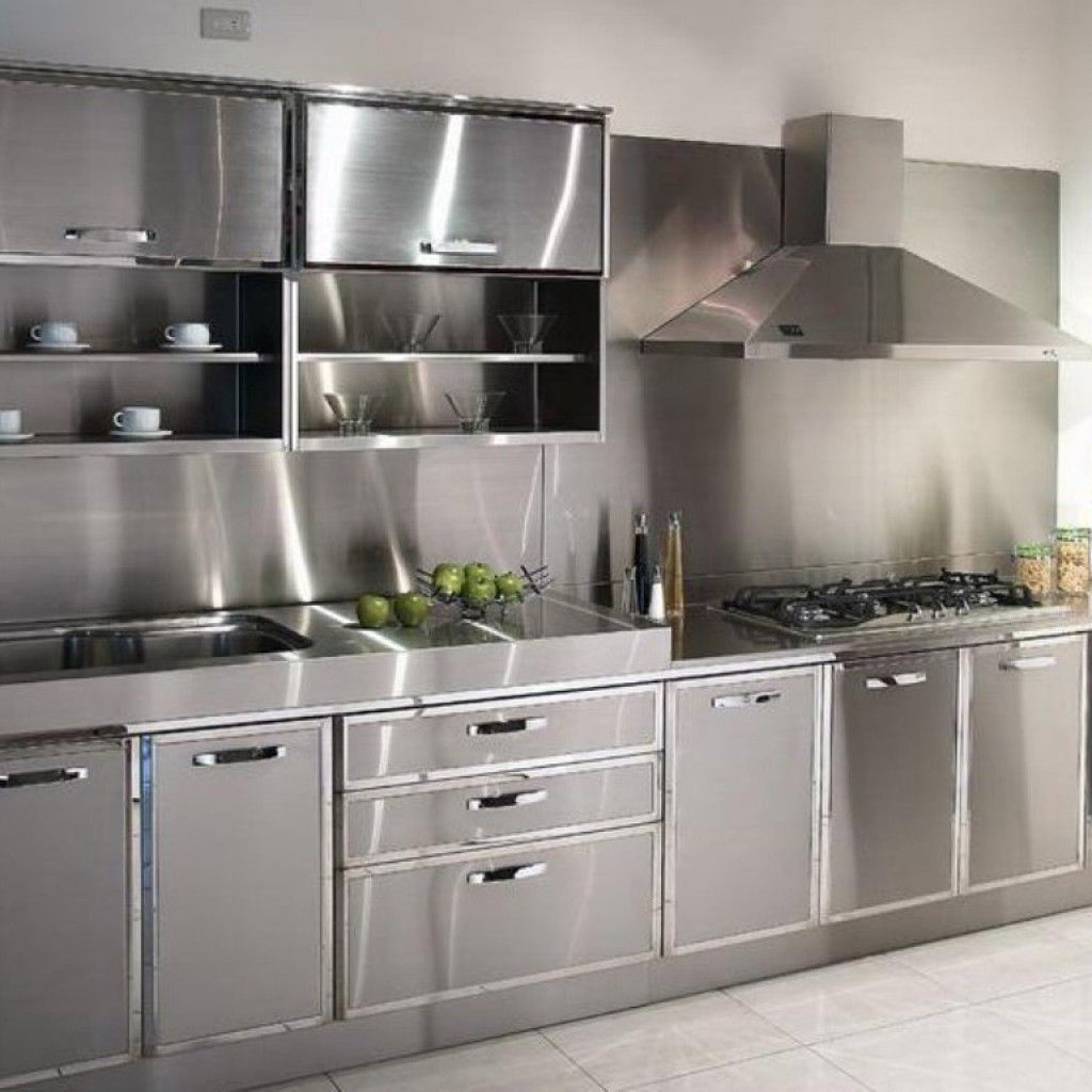 Stainless Steel Kitchen Cabinets Perfect Choice For Everyone Darbylanefurniture Com In 2020 Steel Kitchen Cabinets Metal Kitchen Stainless Kitchen