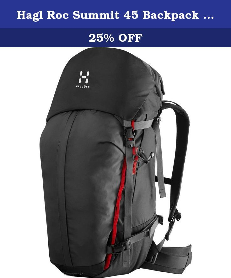 debfc27f0271 Hagl Roc Summit 45 Backpack - 2746cu in True Blac… | Internal Frame ...