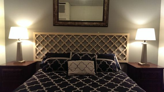 Headboard Idea Moroccan Lattice Headboard Double Full