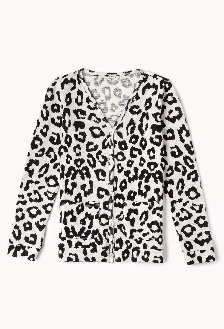 Leopard Print Cardigan (Kids) | FOREVER21 girls - 2000075060 ...