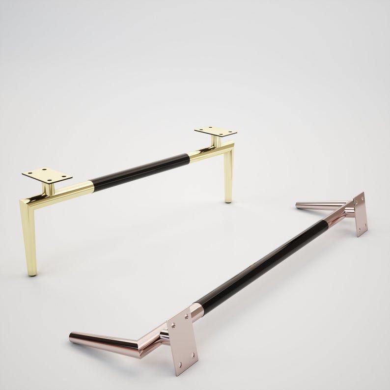 Set Of 2 Custom Cabinet Legs Furniture Bases Copper Sofa Etsy In