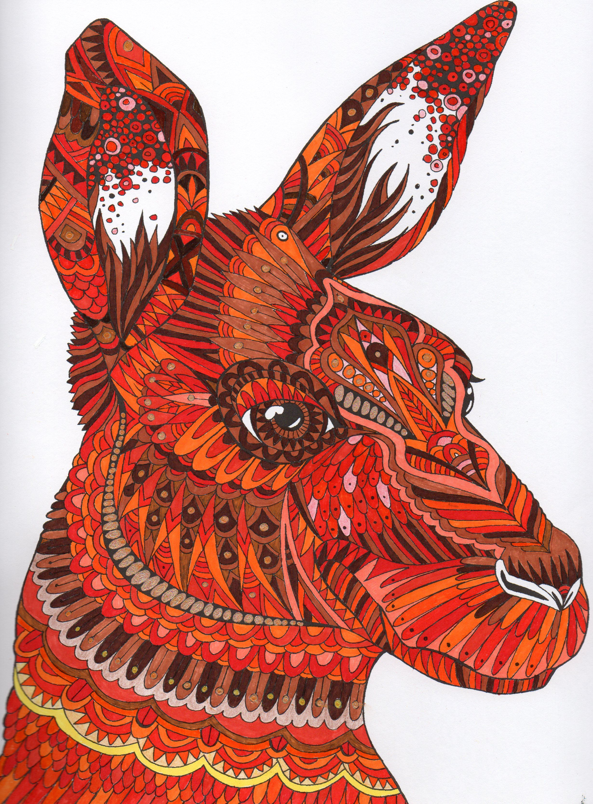 Pin On The Menagerie Animal Portraits To Color