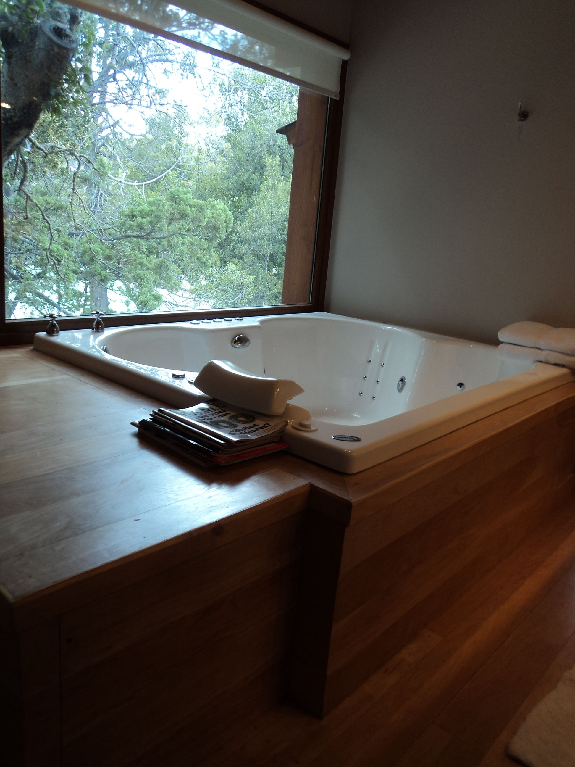 meier u lanz arquitectos casa en el bosque jacuzzi de madera villa la