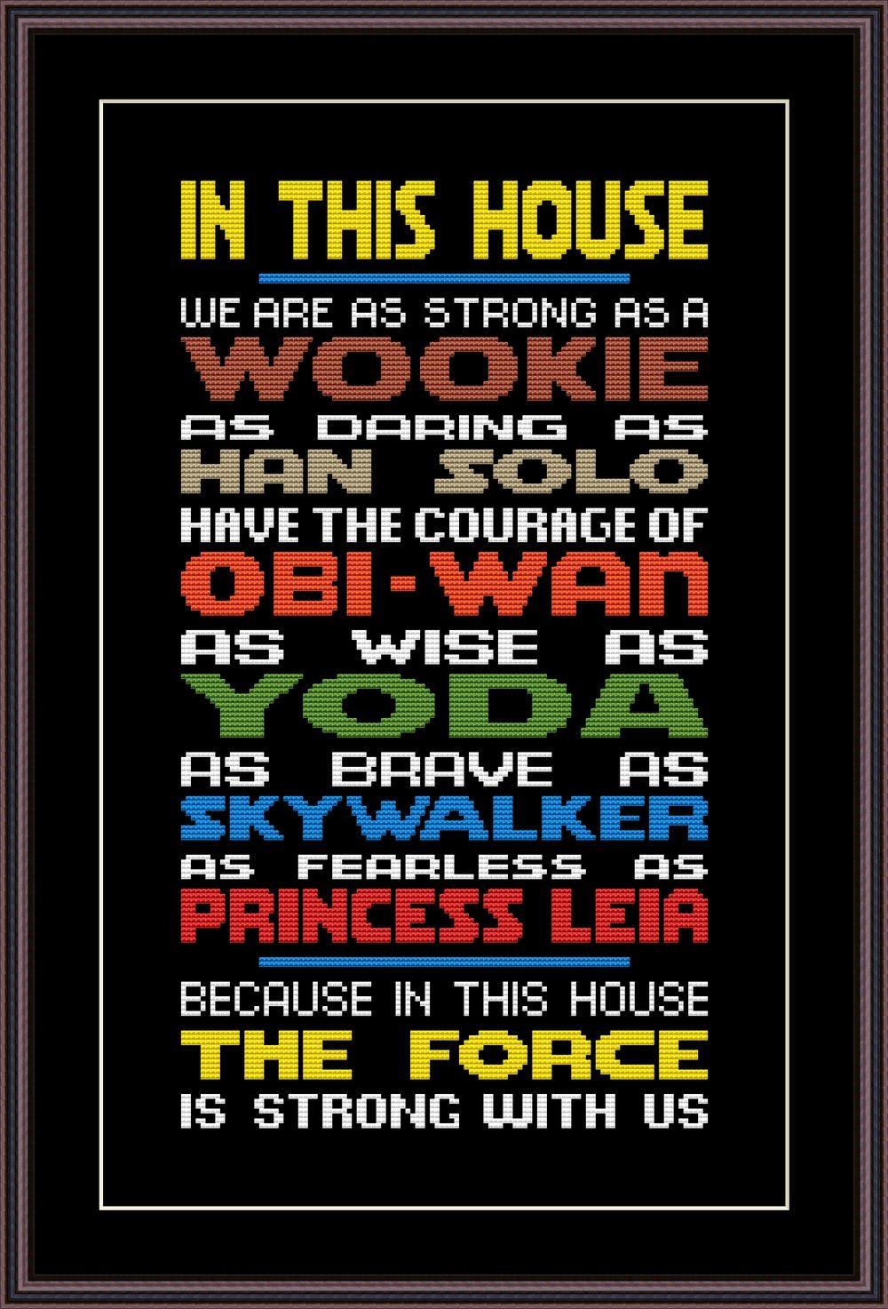 Star Wars Funny Cross Stitch PDF Pattern In This House The. Star Wars Funny Cross Stitch PDF Pattern In This House The   Cross
