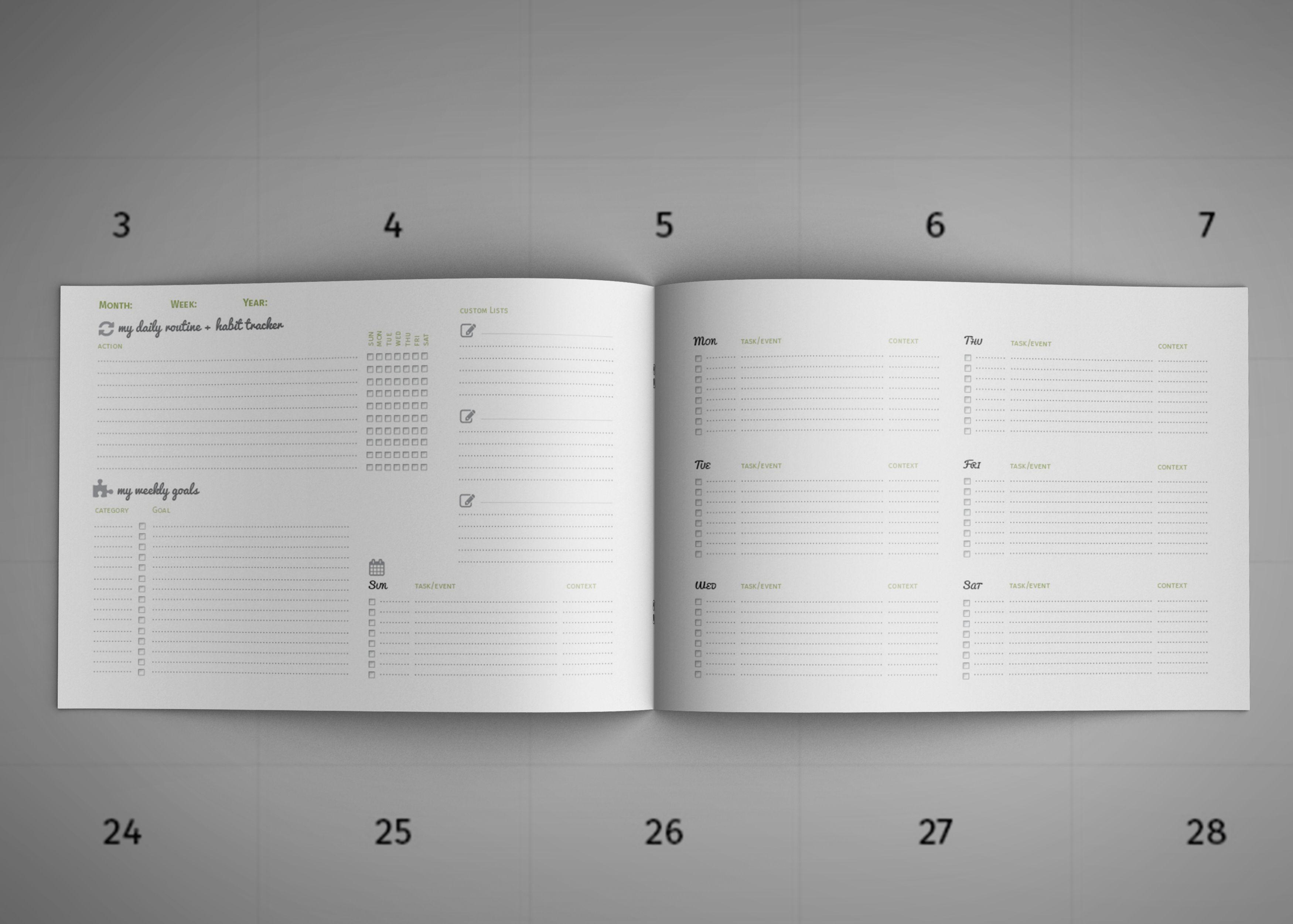 Diy Planner Calendar Template For And Landscape Dbfafeg Home
