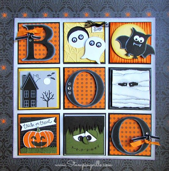 Halloween Sampler Decor Piece | Stampingville #Halloween #papercrafts #StampinUp
