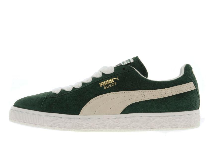 puma suede classic green white