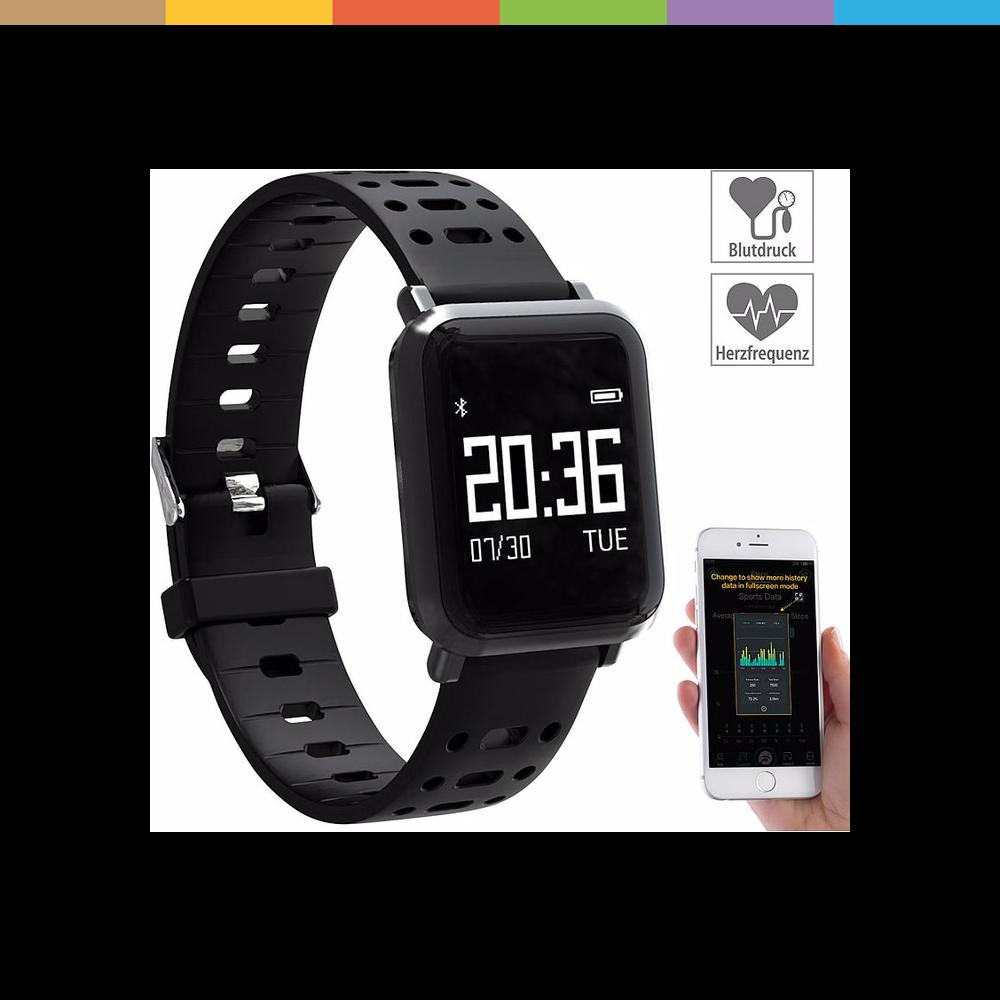 Sportuhr + Smartwatch Fitness-Uhr mit Touch-Screen & Herzfrequenz-Anzeige