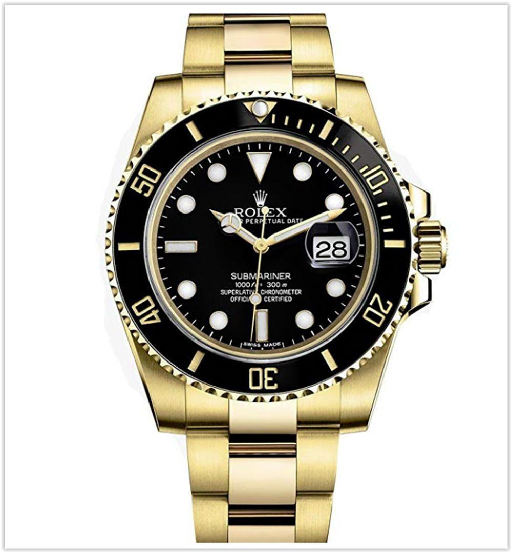 Rolex Submariner Yellow Gold Watch Black Dial Men S Watch Best Price Rolex Watches Submariner Rolex Watches Luxury Watches For Men