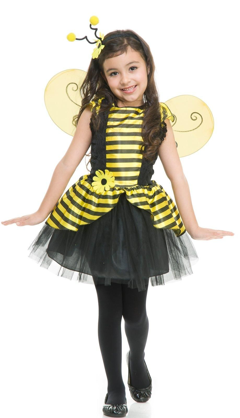 Kids Cute Yellow Bee Costumes Attach with Wings Child Funny Animal Tunic Clothes