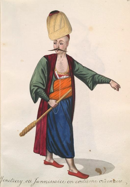19th Century Album Of Ottoman Fashion Enviable Engravings