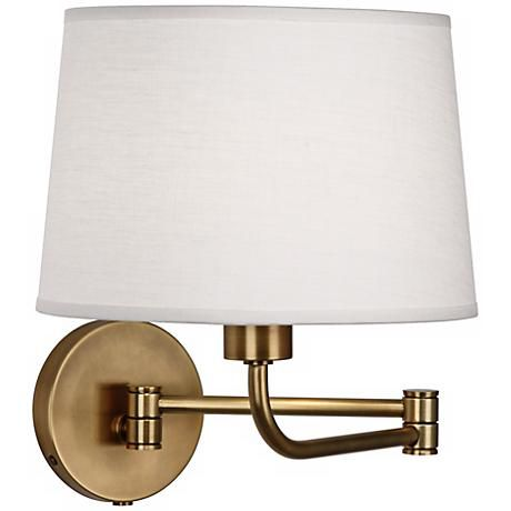 Robert abbey koleman brass plug in swing arm wall lamp style u2414 mozeypictures Gallery