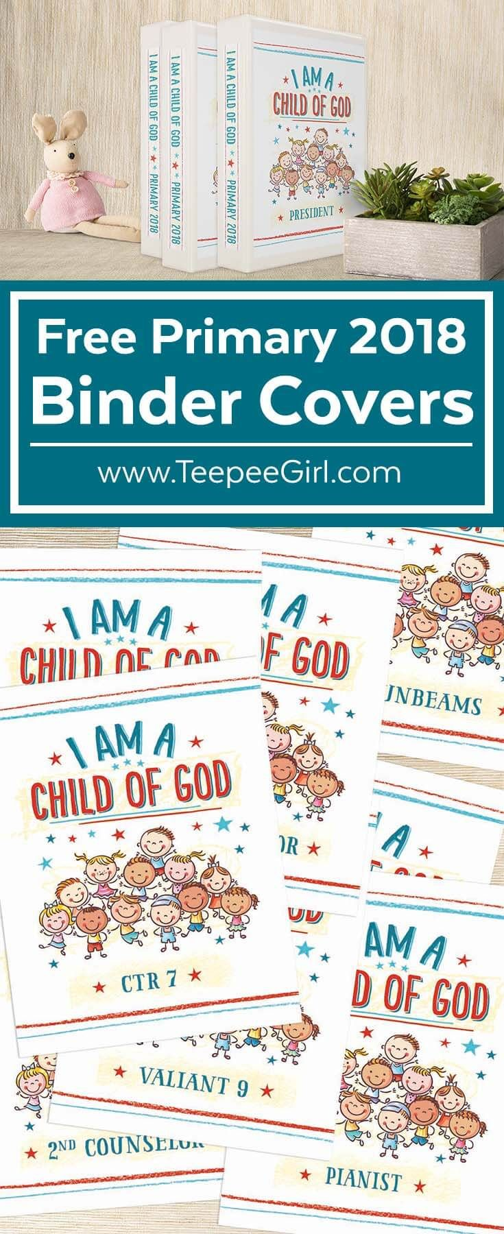 Free Primary 2018 Binder Covers \