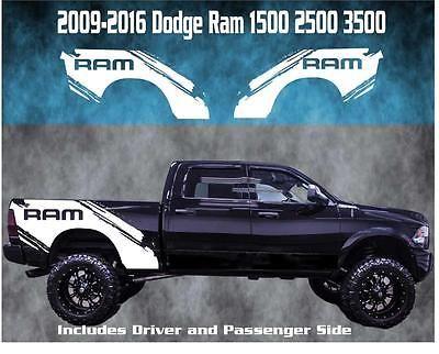 2009-2016 Dodge Ram Vinyl Decal Graphic Rebel Truck Bed Stripes 1500 2500 3500