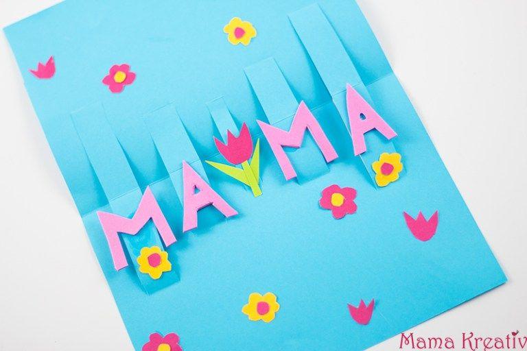 Pop Up Muttertagskarte Basteln Schnell Und Einfach