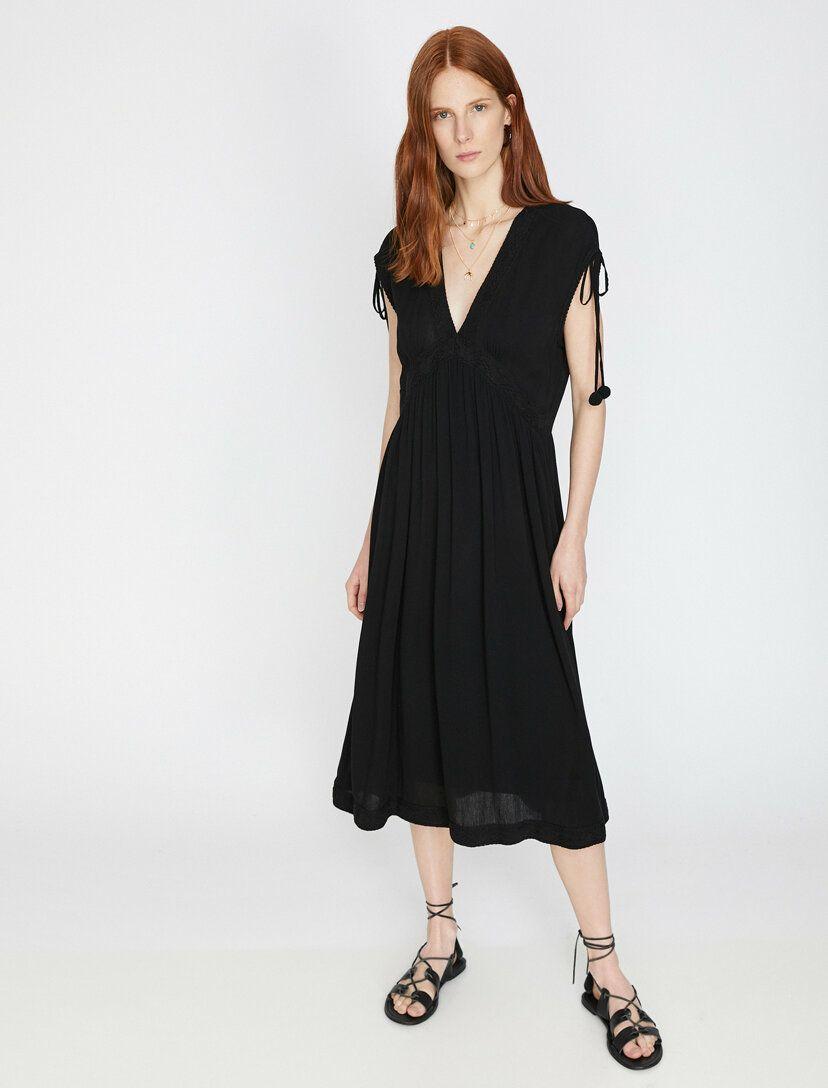 Kolsuz Elbise Elbise Elbise Modelleri Siyah Elbise