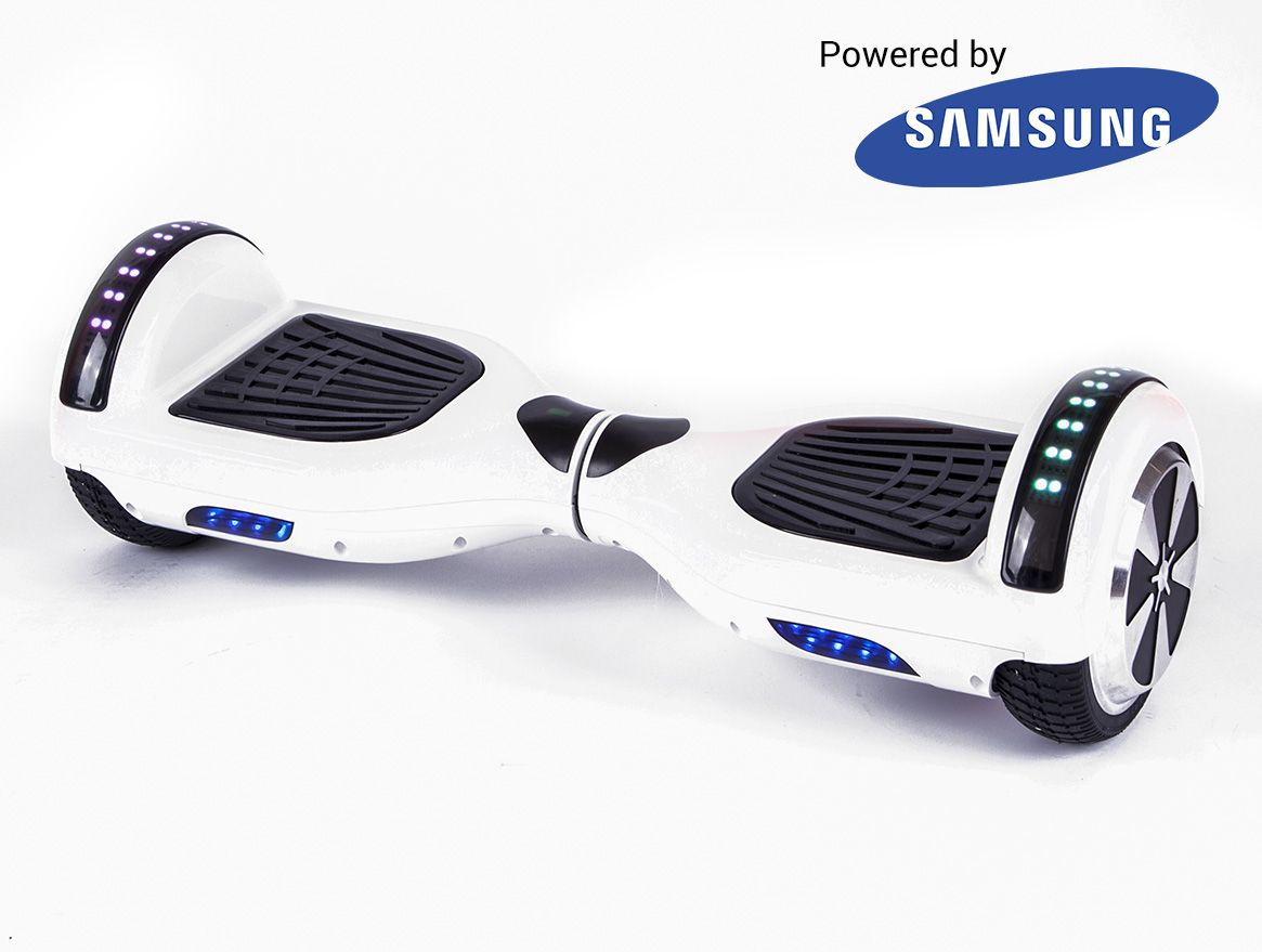 Vanguard White Hoverboard Is A Beautiful Hoverboard With Sleek