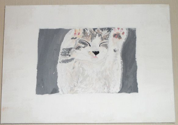 愛猫のタマを描いてみたくて、小さいキャンバスにアクリル画で描きました。 下書きの時から、縦横のバランスが悪くキャンバスに対して小さくしてしまったのですがなんと...|ハンドメイド、手作り、手仕事品の通販・販売・購入ならCreema。