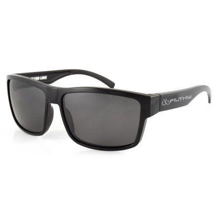 89d2782ebf Filthy Anglers Ames Polarized Fishing Sunglasses - Black Wayfarer Frame