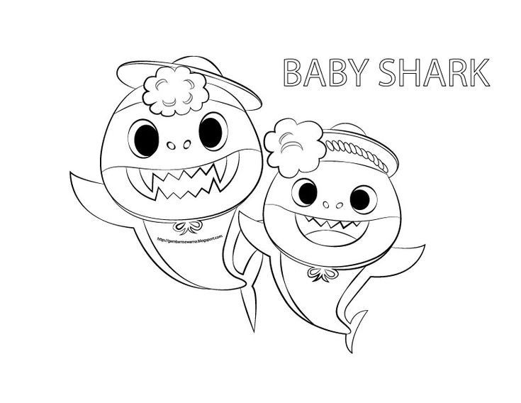 Baby Shark Coloring Pages Printable Free Shark Coloring Pages Baby Shark Bunny Coloring Pages