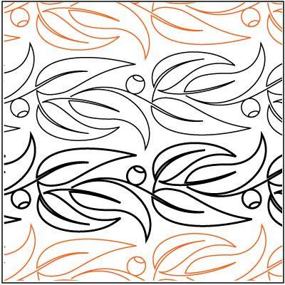 Eucalyptus Border pantograph pattern by Patricia Ritter of Urban Elementz