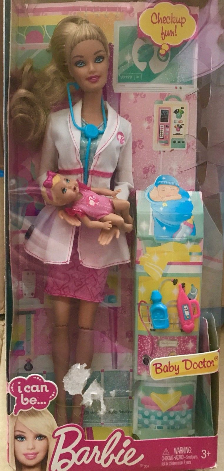 Barbie I Can Be Baby Doctor Barbie With Girl Baby